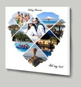 Design your own Heart Shaped Photo Collage using our online template 8 picture layout